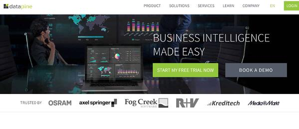 Business Intelligence and Data Reporting Tool Example datapine