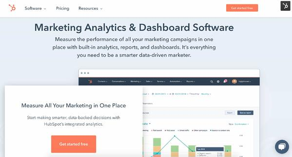 HubSpot Marketing Analytics Software & Dashboard example of marketing attribution software and tools