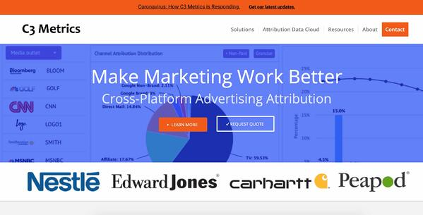 c3 metrics marketing attribution software and tools example