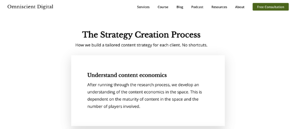 project based pricing strategy example omniscient digital