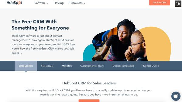 HubSpot CRM example of salesforce alternative