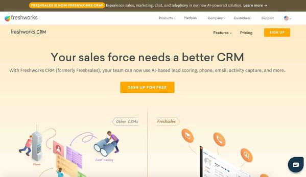 freshworks crm example of salesforce alternative