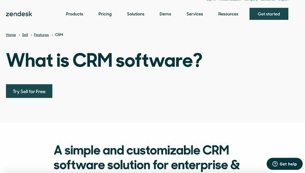 zendesk sell crm example of salesforce alternative