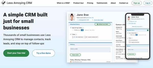 less annoying crm example of salesforce alternative