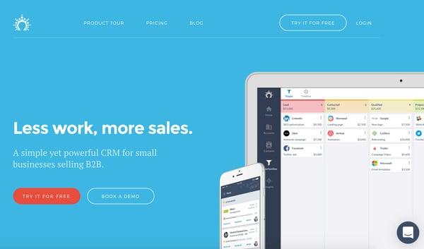 salesflare crm example of salesforce alternative