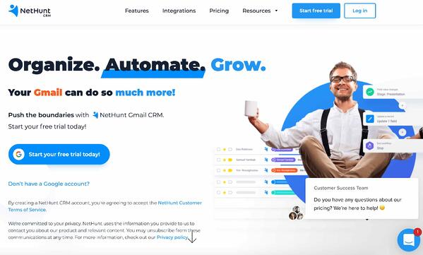 nethunt crm example of salesforce alternative
