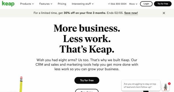 keap crm example of salesforce alternative