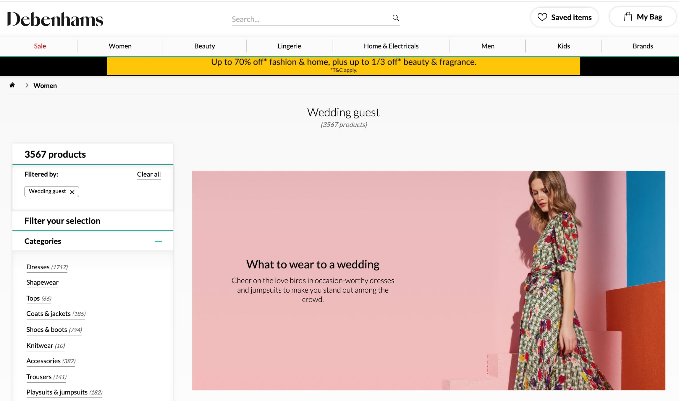 debenhams what to wear to a wedding sample screen