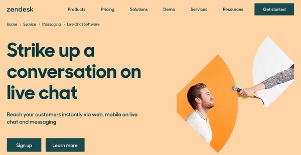 zendesk live chat software and service