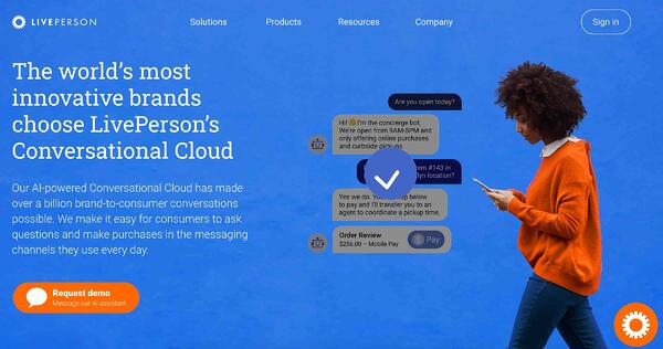 liveperson live chat software and service