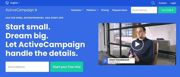activecampaign crm for small buinesses example