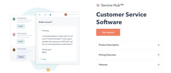 HubSpot service hub customer service software example of customer retention system
