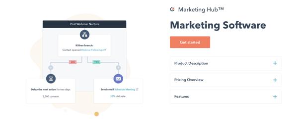 hubspot marketing hub marketing software example of customer retention system