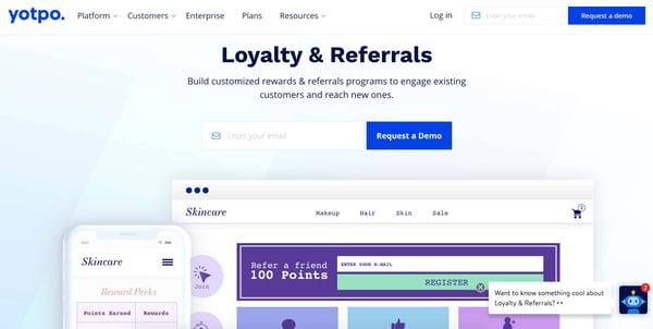customer loyalty system yotpo for customer retention