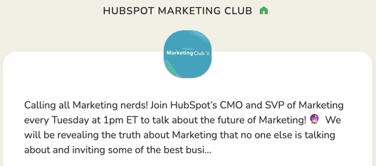 HubSpot Marketing Club