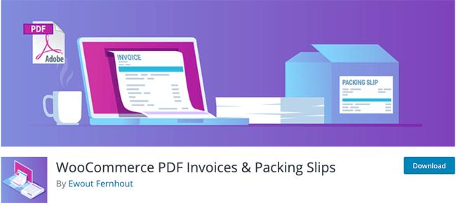 WooCommerce PDF Invoices & Packing Slips WordPress PDF Plugin Download