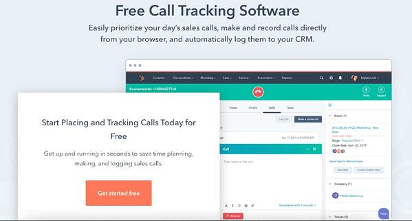 hubspot free call tracking software example of call recording software