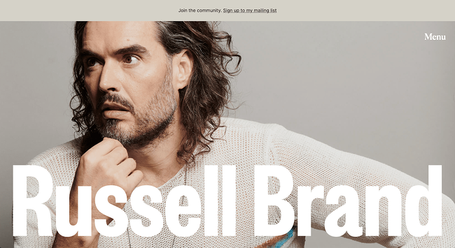 Russel Brand Avada theme website