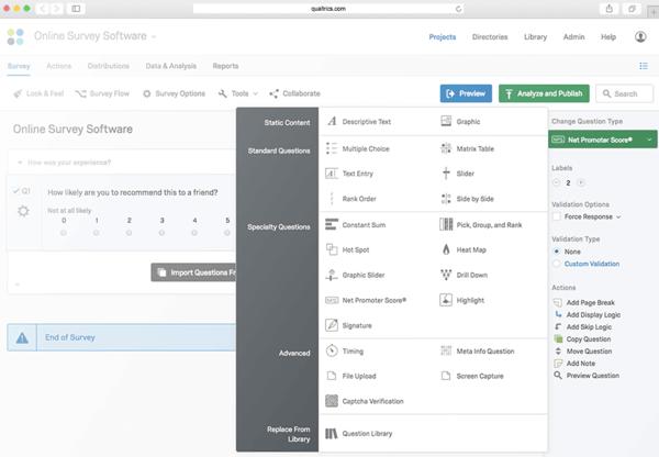 qualtrics nps platform nps survey tool