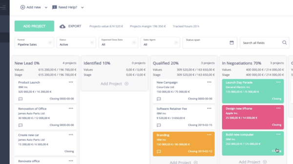 taimer sales crm and professional services automation platform example of sales management software