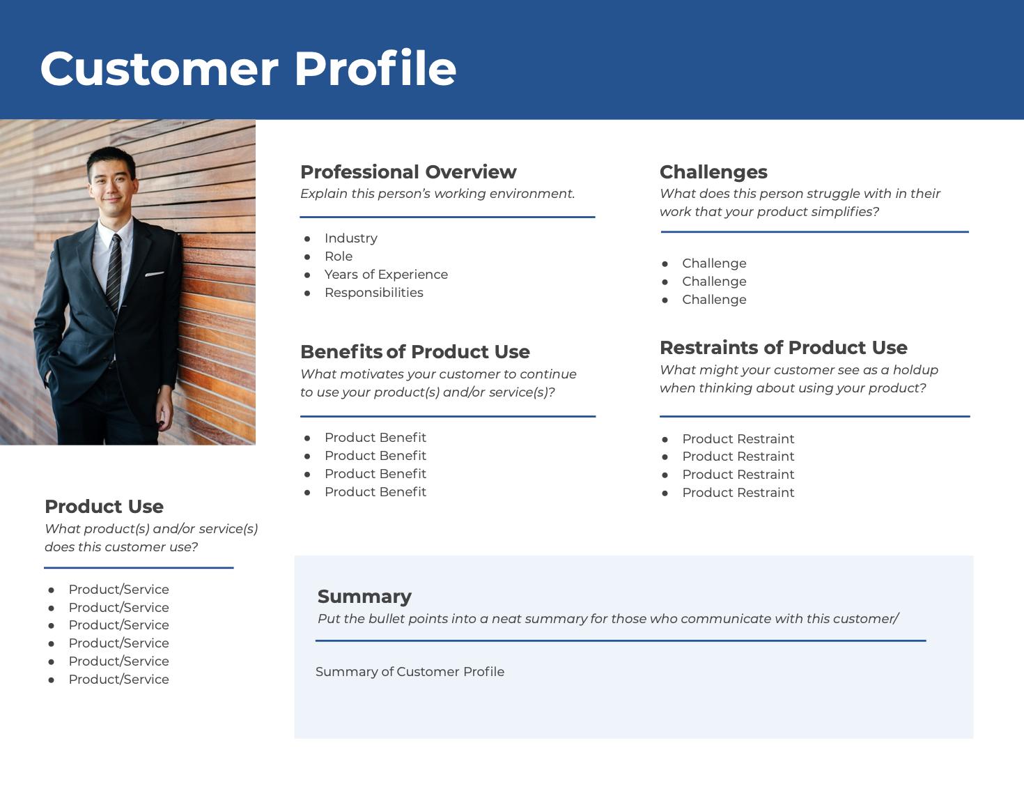 customer profile template