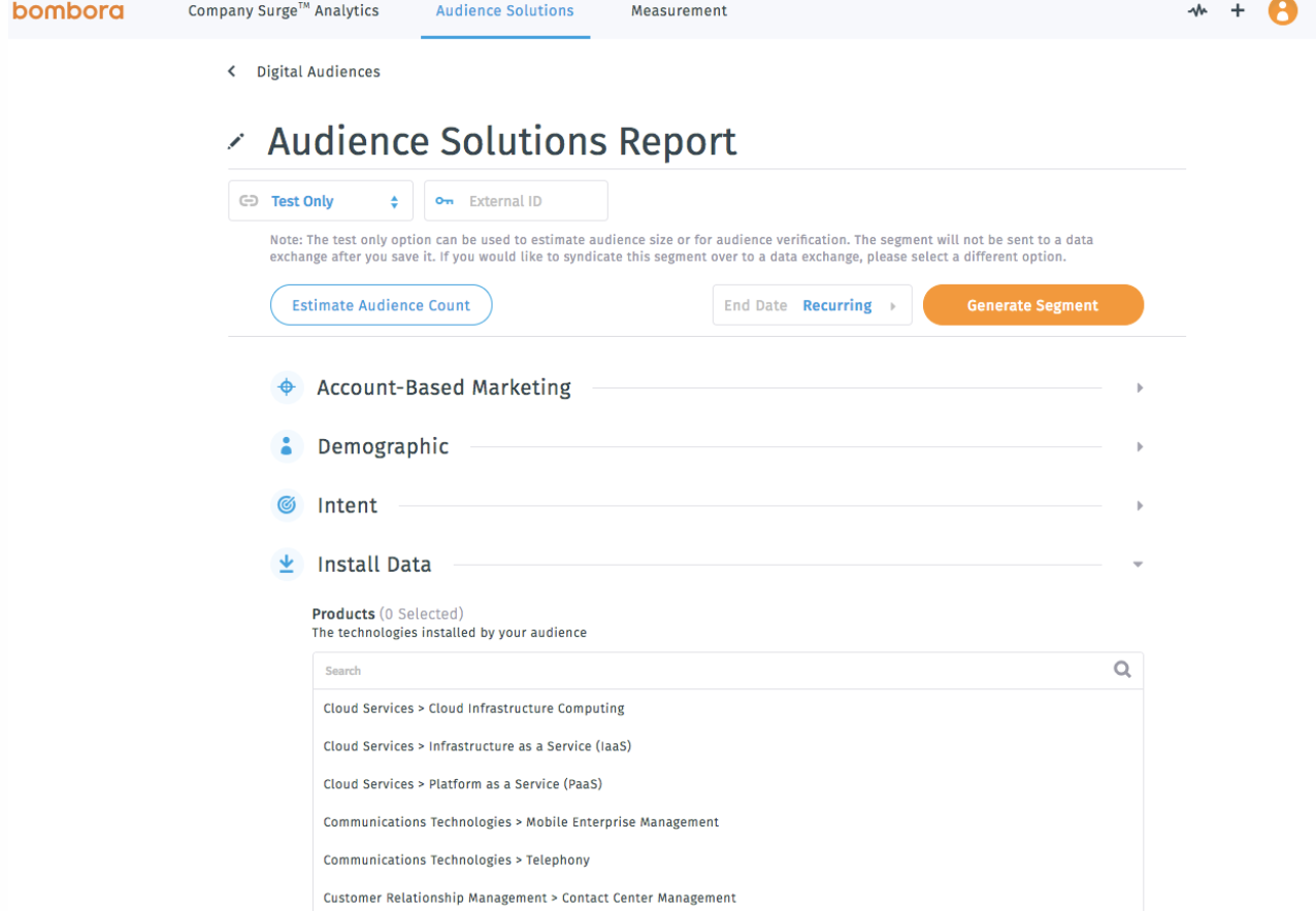 bombora website activity tracker visitor insights and audience solutions report