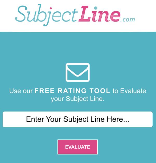 SubjectLine.com subject line email testing tool