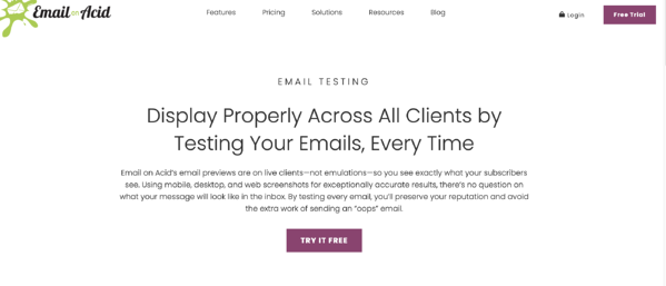 email on acid email testing tool