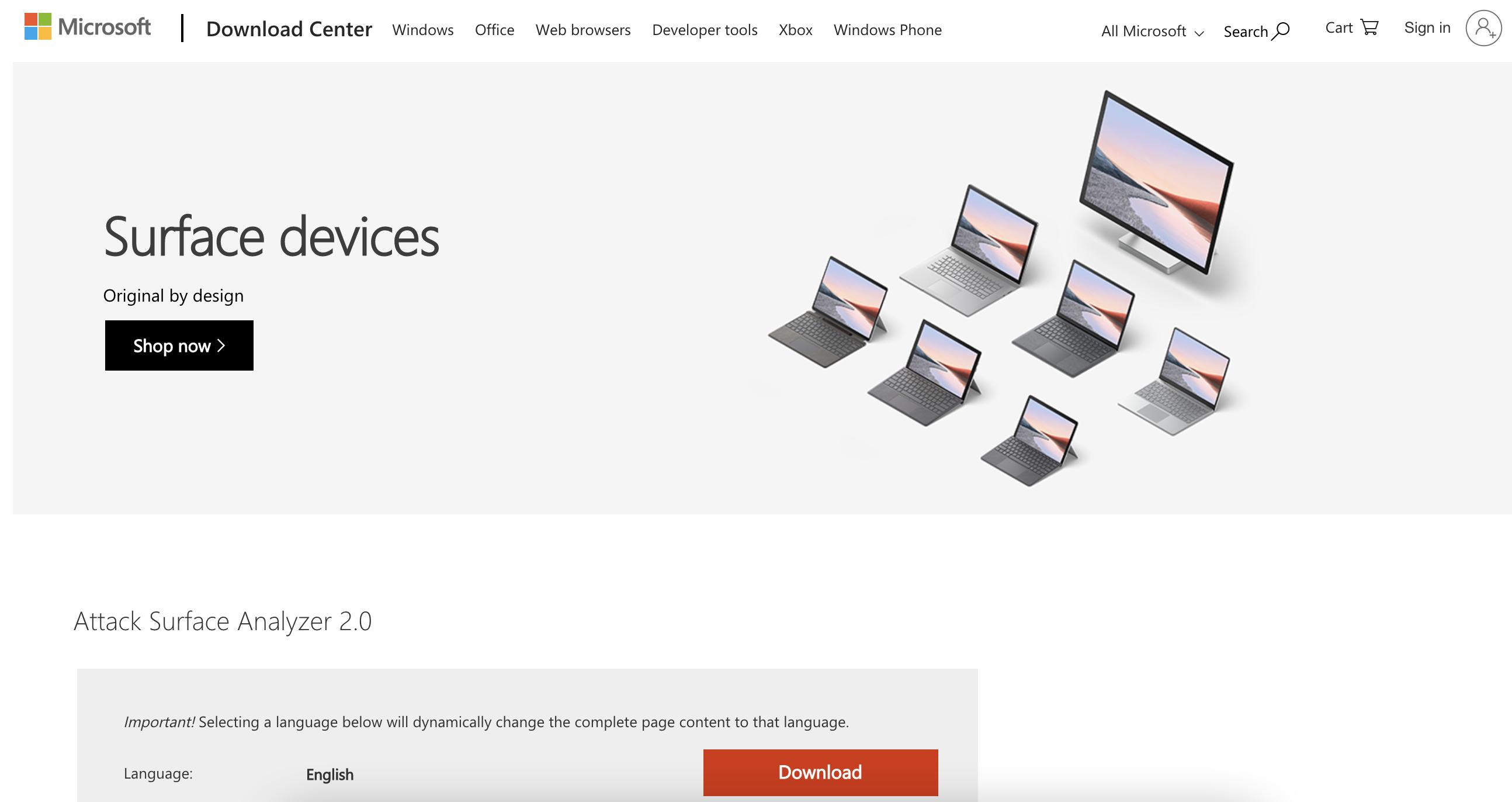 Microsoft Attack Surface Analyzer it software