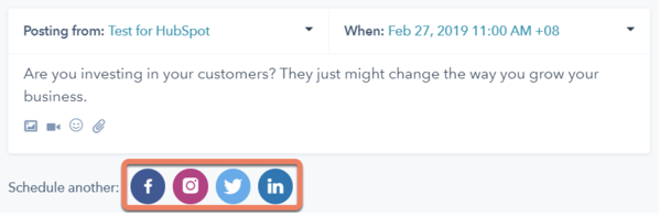 use hubspot to schedule instagram posts ahead of time
