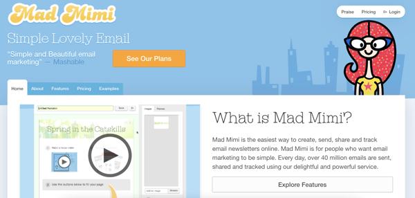 mad mimi best mailing list software