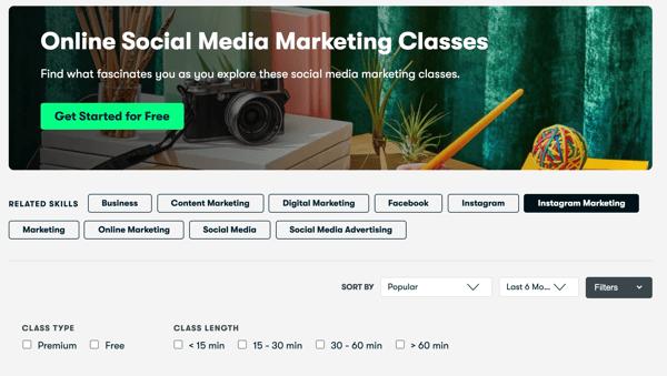 Online Social Media Marketing Classes by skillshare