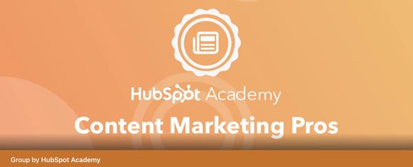 best facebook groups: hubspot academy content marketing pros