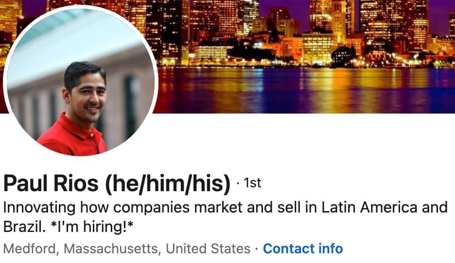 linkedin headline example: engaging language