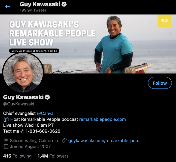 guy kawasaki content marketers to follow on twitter