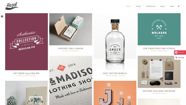 best Pinterest-style wordpress theme: Hazel