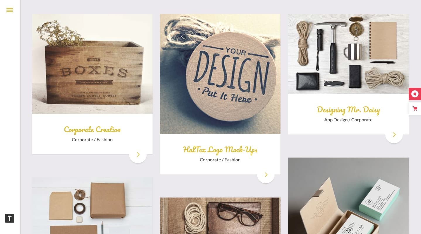 best Pinterest-style WordPress theme: Tactile