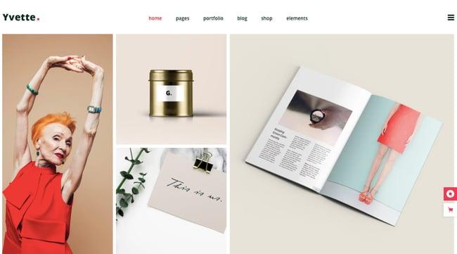 best pinterest-style WordPress theme: Yvette