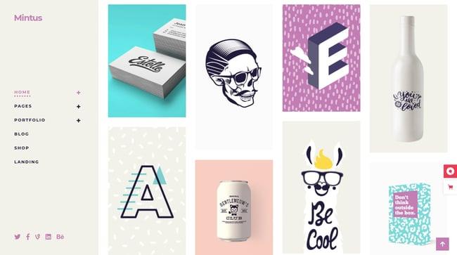 best pinterest-style wordpress theme: Mintus