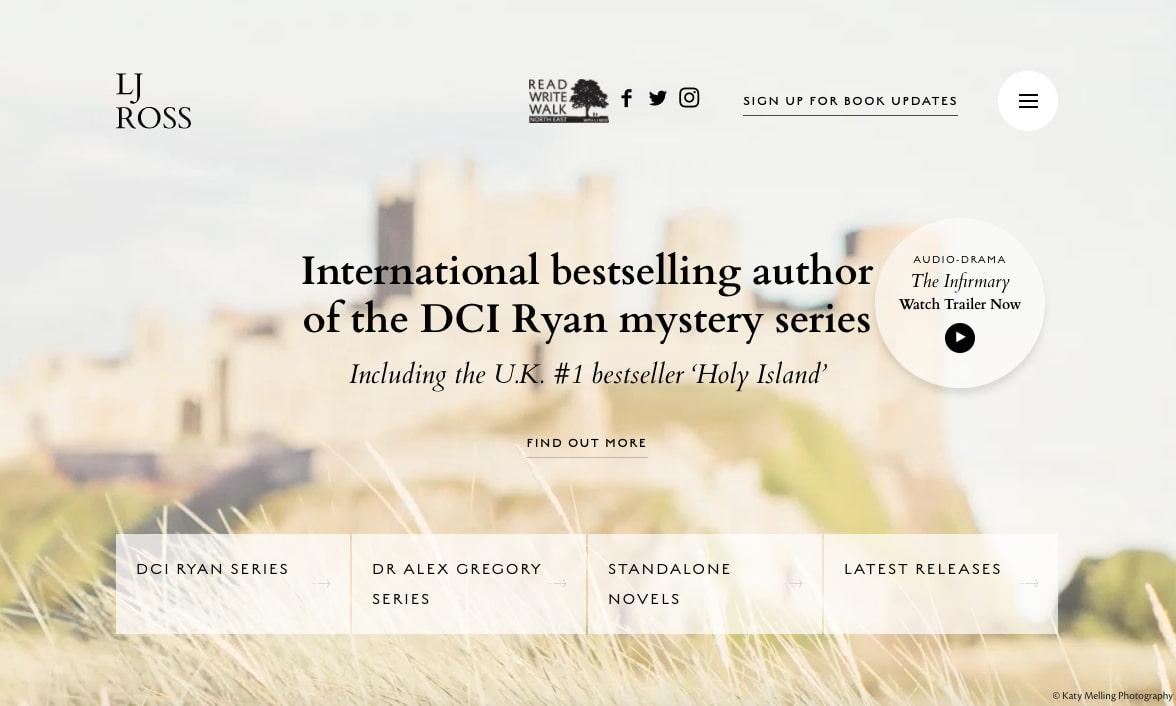 best author website: LJ Ross