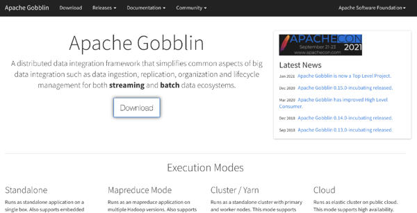 apache goblin data ingestion tool
