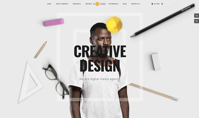 creative wordpress themes: H-Code