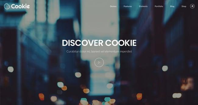 creative wordpress themes: cookie