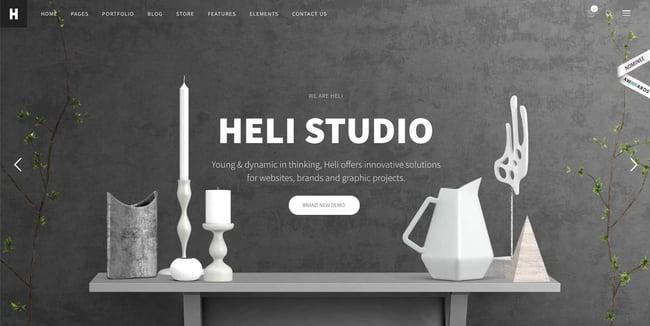 creative wordpress themes: Heli