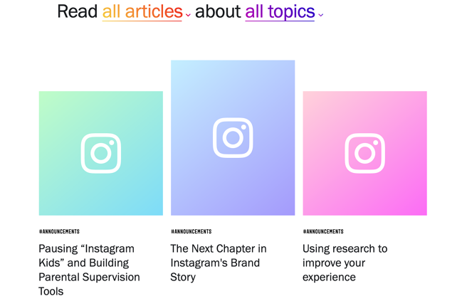 Elements of the Perfect Press Page Design: Instagram