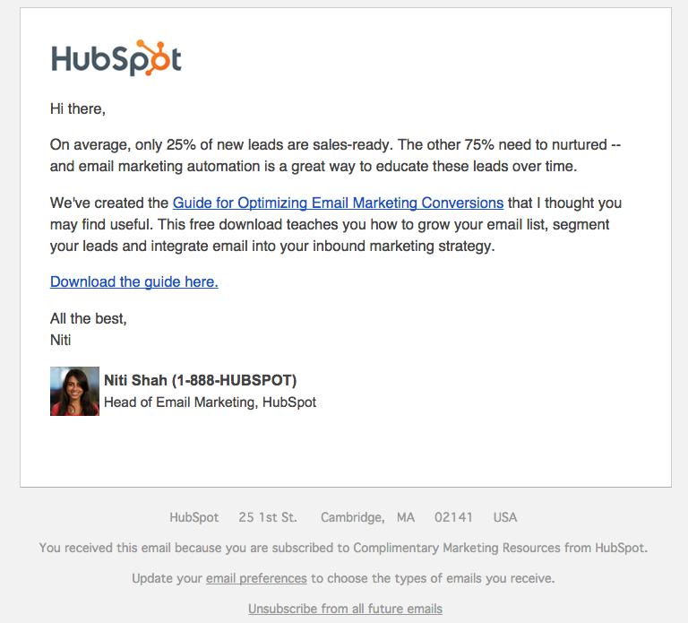 Lead Nurture Email