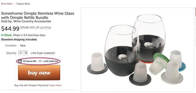 wine.woot fomo example
