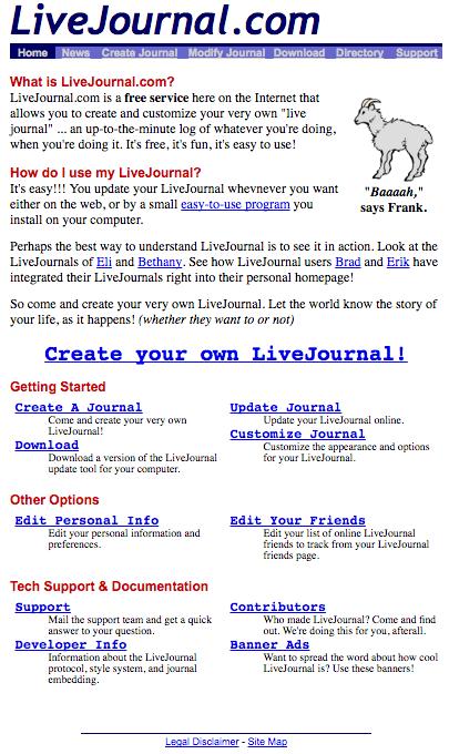 LiveJournal circa 1999