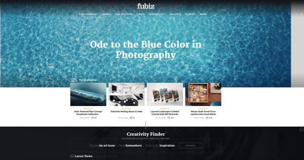 beautiful blog design fubiz