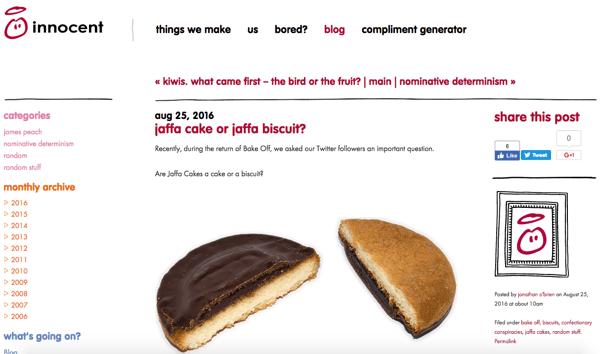 beautiful blog design innocent